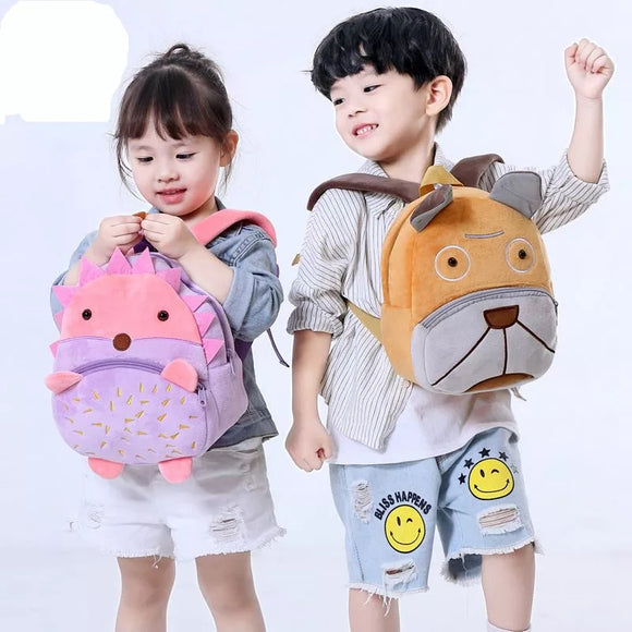 Kids Plush Backpack Animal Cartoon School Bags
