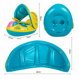 Baby Swimming Ring With Canopy Inflatable Float Sunshade