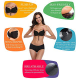 2 Packs Backless Invisible Adhesive Push Up Bra with Drawstring
