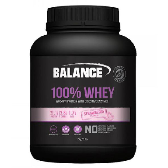 Balance 100% Whey Protein Strawberry 1.5kg