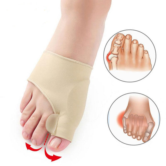 2 Pairs Big Toe Straightener Corrector Bunion Relief Sleeve with Gel Pad
