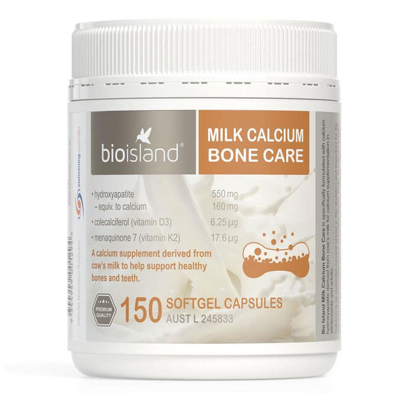 Bio Island Milk Calcium Bone Care 150 Softgel Capsules