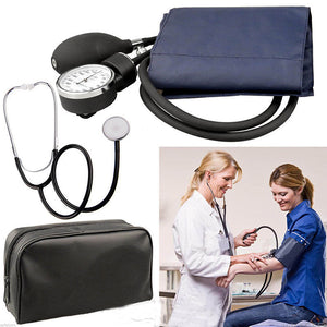 Blood Pressure Monitor Stethoscope Set Sphygmomanometer