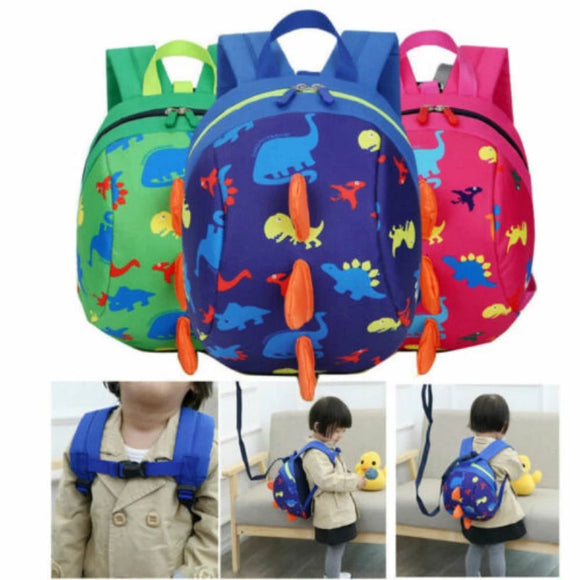 Cartoon Child Dinosaur Safety Anti-Lost Harness Strap Kids Bag Backpack