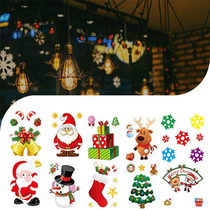 10pcs Christmas Decorations Static Paste Ornament Glass Window Electrostatic