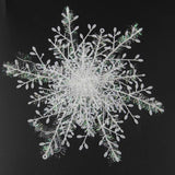 36pcs Christmas Tree Snow Decorations White Snowflake Ornaments