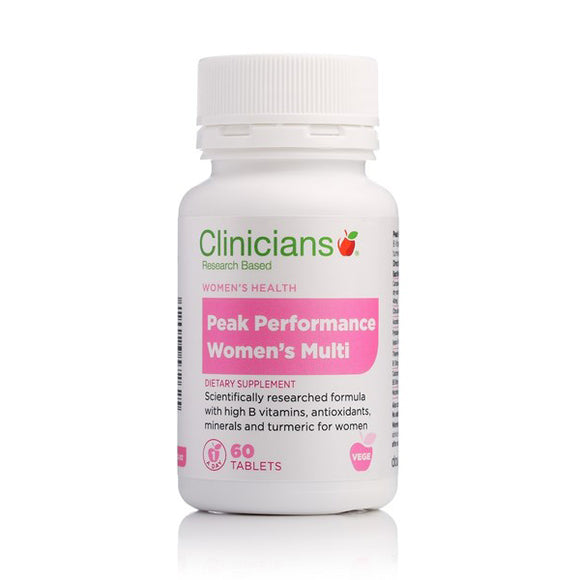 Clinicians Peak Performance Women's Multi 60 Tablets