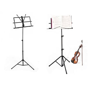 Collapsible Tripod Music Stand with Free Carry Bag