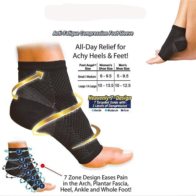 cd52042d8c Anti-Fatigue Compression Foot Sleeves Socks Arch Ankle Support ...