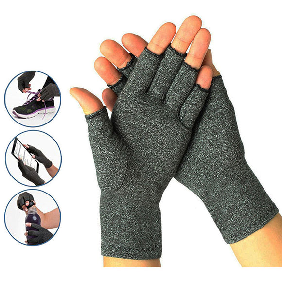 Compression Fingerless Gloves Provide Arthritic Hand Joint Pain Relief
