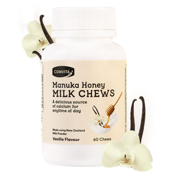 Comvita Manuka Honey Milk Chews Vanilla 60s