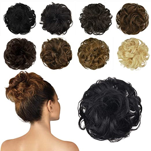 Curly Messy Bun Scrunchie Hair Extensions