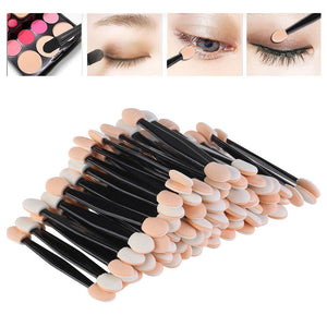 Double Eye Shadow Brush Disposable Sponge