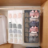 Dual-Sided Hanging Closet Organizer with Mesh Pockets
