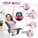 Dual Comfort Orthopedic Lift Hips Up Seat Cushion