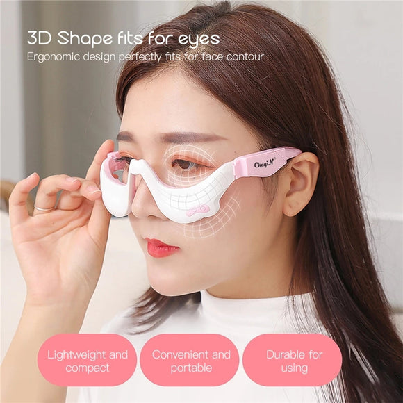 Electric Vibration Eye Massager 3D EMS Micro-Current Pulse Eye Relax