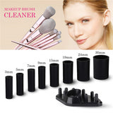 Electric Makeup Brush Cleaner and Dryer Kit with 8 Rubber Holders