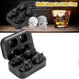 Flexible Silicone Ice Cube Trays 3D Skull Molds Maker