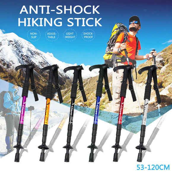 Foldable Hiking Walking Stick Trekking Pole Alpenstock