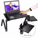 Folding Laptop Desk Stand Table Adjuable Angle and Height