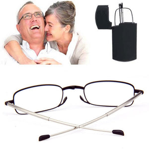 Folding Readers Compact Reading Glasses with Case