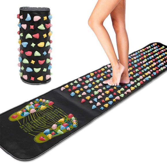 Foot Massage Stone Mat Reflexology Walk Stone Pain Relieve Pad
