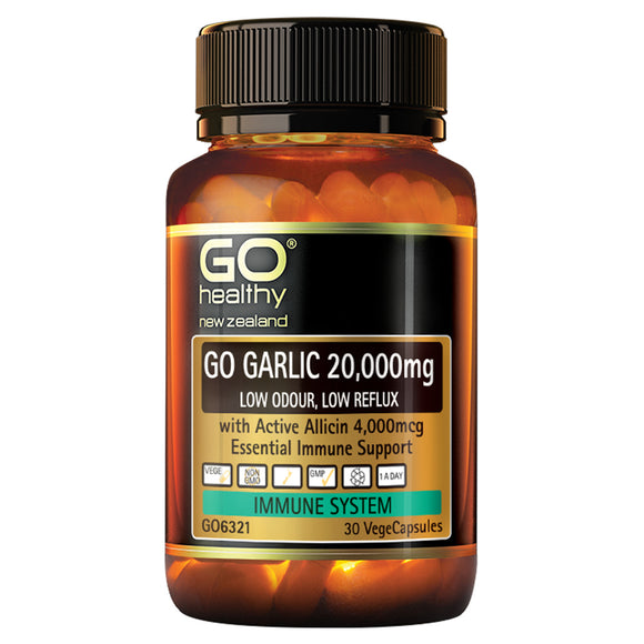 GO Healthy Go Garlic 20000mg 30 Capsules