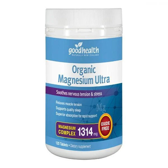 Good Health Organic Magnesium Ultra - 120 Tablets