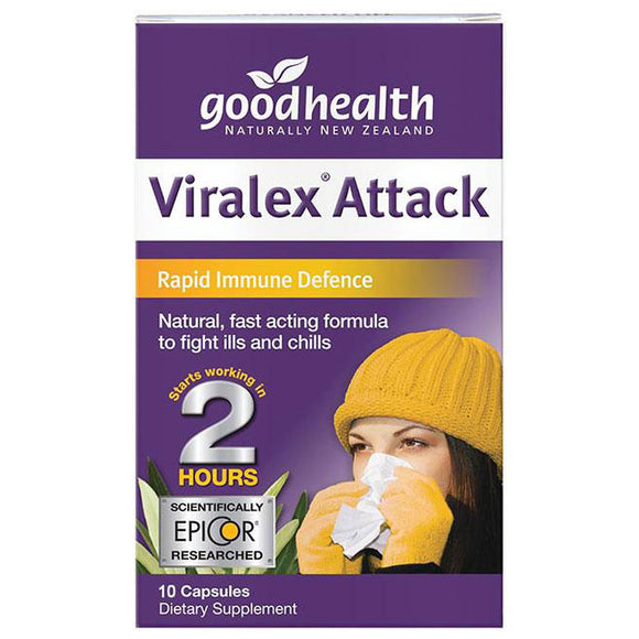 Good Health Viralex Attack 10 Capsules Travel Size