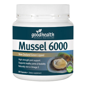 Good Health Green Lipped Mussel 6000mg 300 Capsules