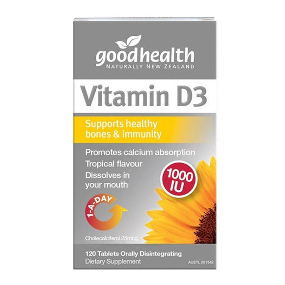 Good Health Vitamin D3 1000IU 120 Tablets