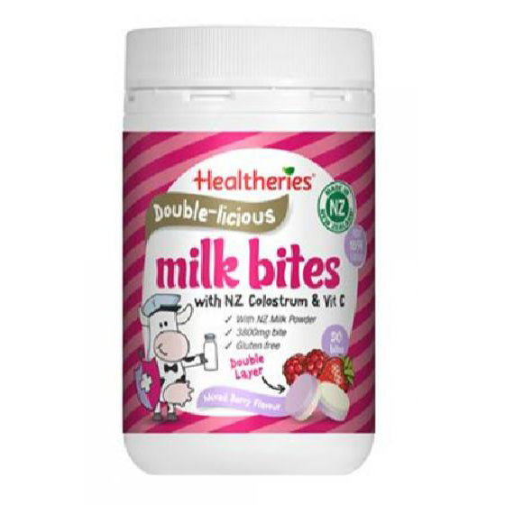 Healtheries Double-licious Milk Bites - Mixed Berry Flavour 50 Bites