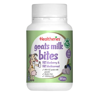 Healtheries Goats Milk Bits NZ Blueberry 50 Bites