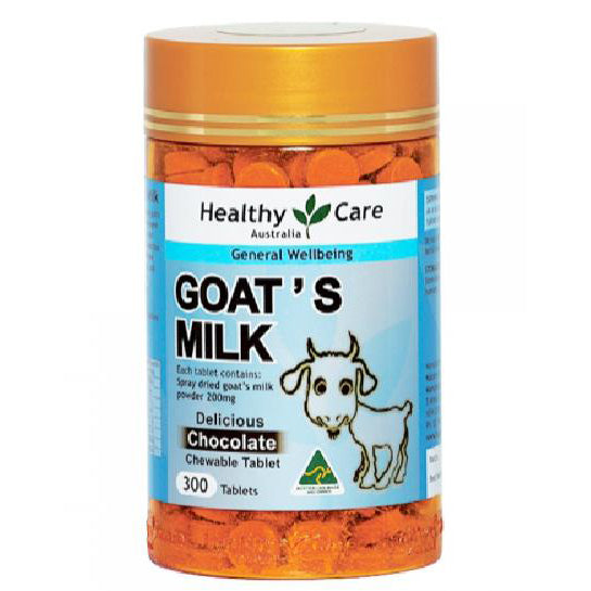 Healthy Care Goat's Milk Chocolate Flavoring - 300 Tablets