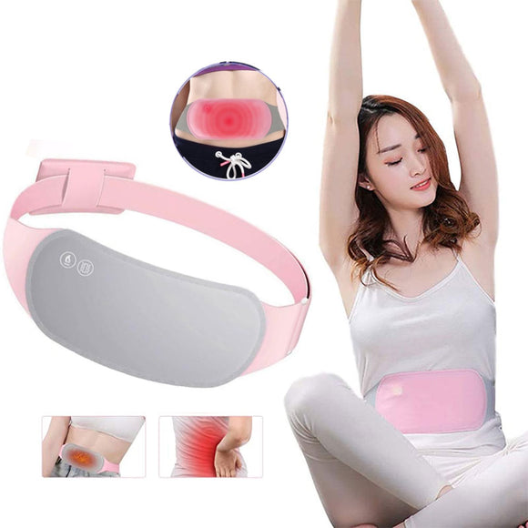 Heating Waist Belt Pain Relief Abdomen Massager