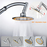 6-Inch Ultra-Thin High Pressure Top Rainfall Booster Shower Head with Free Shower Horse