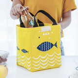 Insulated Lunch Tote Reusable Canvas Cooler Thermal Bag