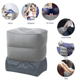 Inflatable Travel Foot Rest Pillow Adjustable Kids Airplane Bed