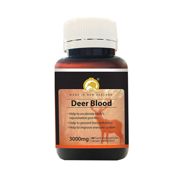 Kiwi Gold Kiwi Deer Blood 3000mg 66 Capsules