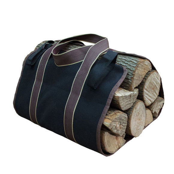Large Firewood Canvas Log Carrier Bag