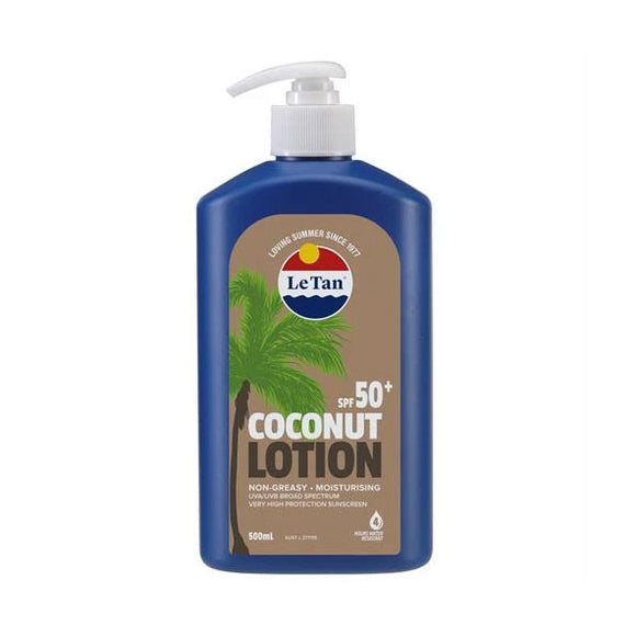 Le Tan SPF50+ Coconut Lotion Sunscreen 500ml