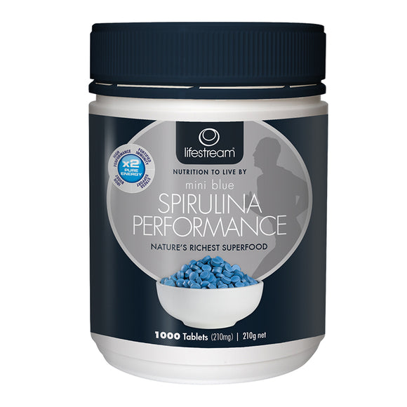 Lifestream Spirulina Performance Mini Blue - 1000 Tablets