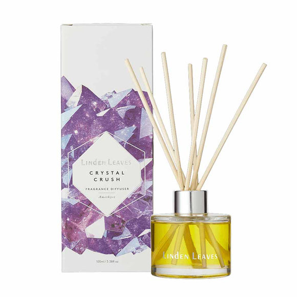 Linden Leaves Crystal Crush Fragrance Diffuser 100ml - Amethyst