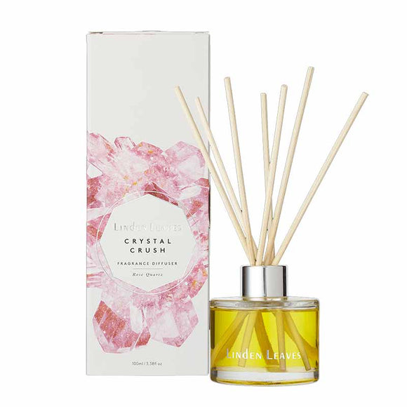 Linden Leaves Crystal Crush Fragrance Diffuser 100ml - Rose Quartz