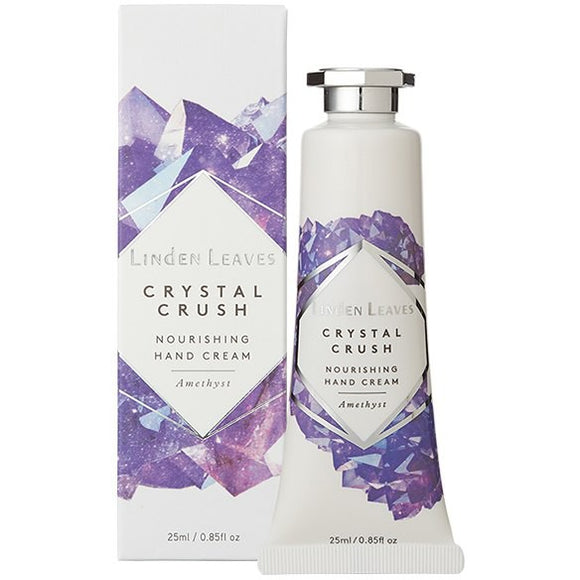 Linden Leaves Amethyst Crystal Crush Nourishing Hand Cream 25ml