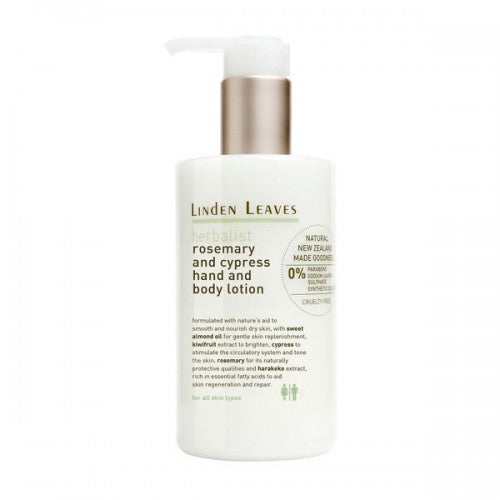 Linden Leaves Rosemary And Cypress Hand And Body Lotion 300ml