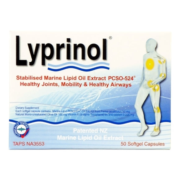 Lyprinol Marine Lipid Oil Extract 50 Capsules
