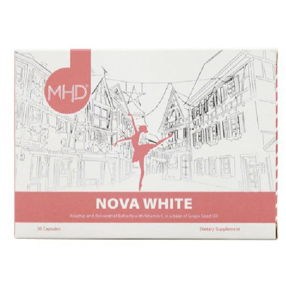 MHD Nova White Skin Rosehip and Resveratrol Extracts Capsules 30 Capsules