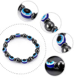 Black and Blue Purple Stone Magnetic Therapy Bracelet Health Care Jewelry