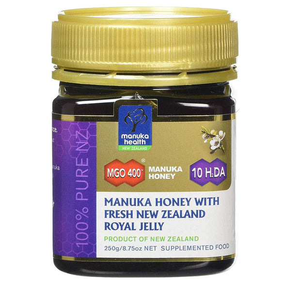 Manuka Health MGO 400+ Manuka Honey with Fresh New Zealand Royal Jelly -  250g